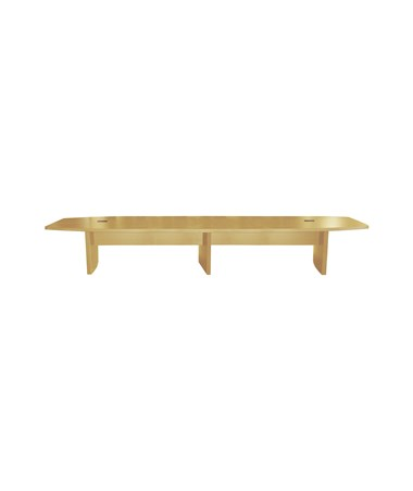 Mayline Aberdeen Series Boat-Shaped 18-Foot Conference Table Maple MAYACTB18