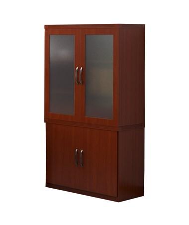 Mayline Aberdeen Series Glass Display Cabinet MAYAGDCLCR-