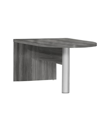 Mayline Aberdeen Freestanding Peninsula Gray Steel