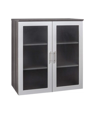 Mayline Medina Series Glass-Door Display Cabinet MAYMGDCLGS-