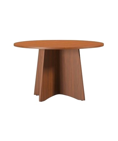 Mayline Medina Round Conference Table Textured Brown Sugar MNCR48TBS