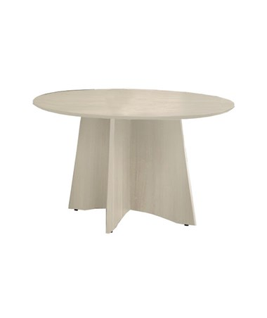Mayline Medina Round Conference Table Textured Sea Salt MNCR48TSS