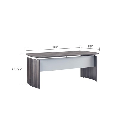 Mayline Medina Series Curved Desk MAYMND63LGS-