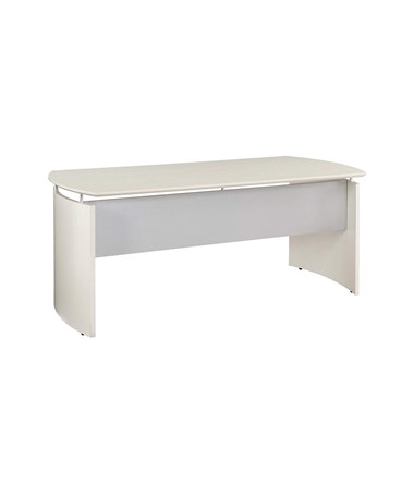 "Mayline MND63TSS Mayline 63""L x 36""W Medina Curved Desk Textured Sea Salt"