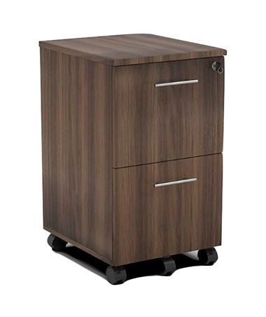 Mayline 2-Drawer Medina Mobile Pedestal Textured Brown Sugar MNFFTBS