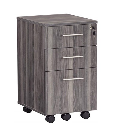 Mayline 3-Drawer Medina Mobile Pedestal Gray Steel MNBBFLGS