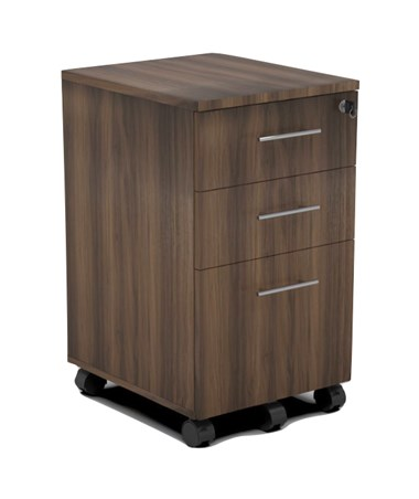 Mayline 3-Drawer Medina Mobile Pedestal Textured Brown Sugar MNBBFTBS