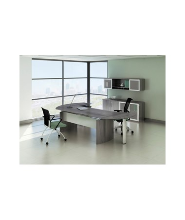 Mayline Medina Series Curved Desk Return MAYMNRTPLLGS-