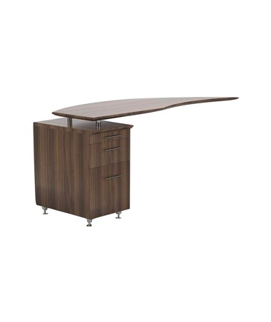 Mayline Medina Left Curved Desk Return Textured Brown Sugar MNRTPLTBS