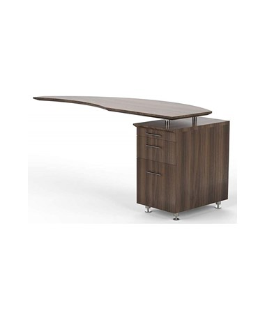 Mayline Medina Right Curved Desk Return Textured Brown Sugar MNRTPRTBS