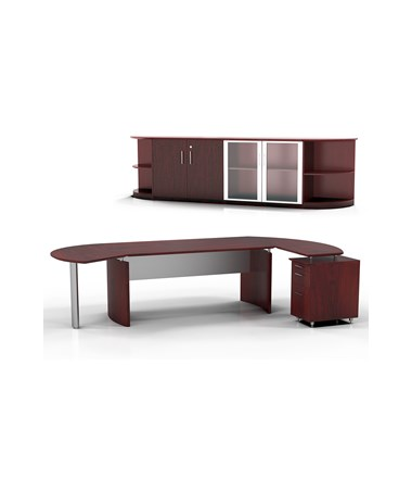 Mayline MNT10LMH Mayline Medina Office Suite 10 Mahogany