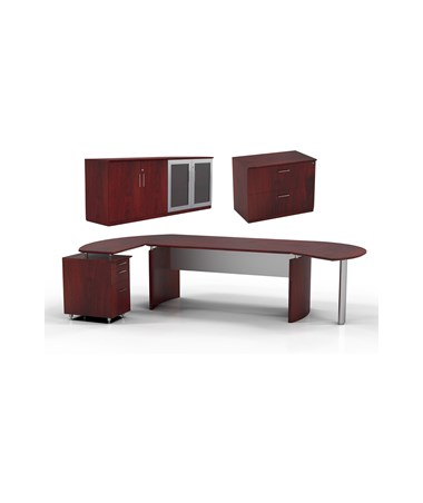 Mayline MNT16LMH Mayline Medina Office Suite 16 Mahogany