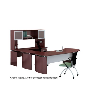 Mayline MNT29LMH Mayline Medina Office Suite 29 Mahogany