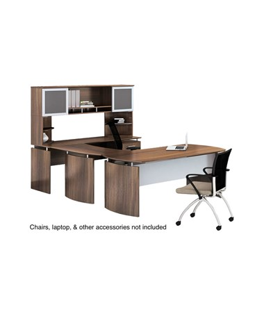 Mayline Medina Office Suite 36 Textured Brown Sugar