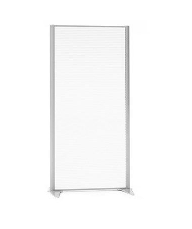 "31 15/16""W Space Divider w/ Polycarbonate Panel"