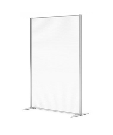 "47 ¼""W Space Divider w/ Polycarbonate Panel"