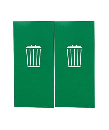 Waste Side-Panel Cutouts for Magnuson Group Umea Waste Receptacle