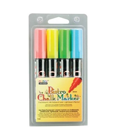 Marvy Bistro Chalkboard and Light Board Marker 4-Color Set A MR480-4A
