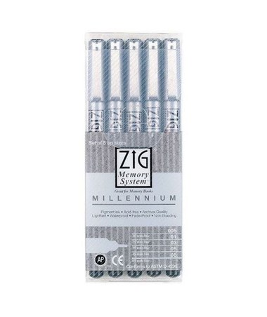 Zig Memory System Millennium Pen Set Black (Pack of 5) MS/5VB