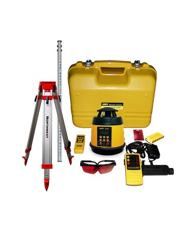 Northwest Instrument NEXPK800X Single Grade Laser with Laser Receiver, Tripod and Grade Rod