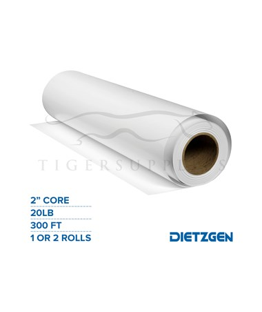 "Dietzgen High Bright Inkjet Bond Paper, 20 lb, 2"" Core, 300ft. Rolls PAPD740240-"