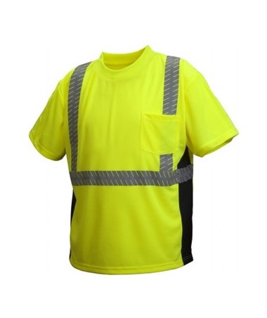 Pyramex RTS23 Series Hi-Vis Lime Safety Shirt PYRRTS2310M-