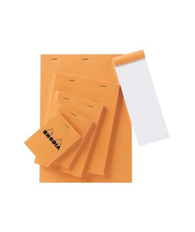 "Rhodia 2.75""W x 4.5""L Graphic Sketch/Memo Pad (80-Sheet) Orange RA11"