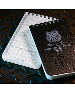 Preserve your investigation notes with a water repelling notebook