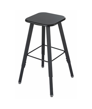 Safco AlphaBetter Adjustable-Height Student Stool - Black 1205BL