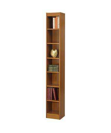 "Safco 24""W 6-shelf Veneer Baby Bookcase Medium Oak 1514MOC"