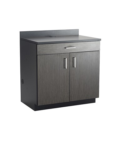 Safco Hospitality Base Cabinet, One Drawer/Two Door, Black 1701AN