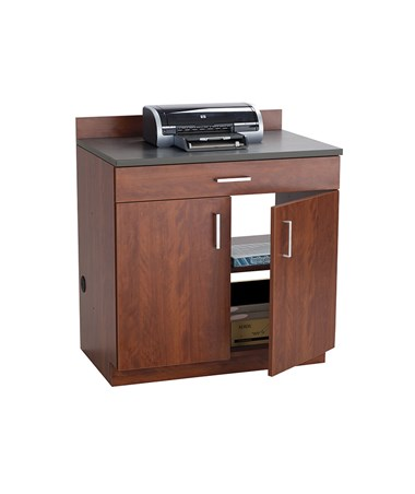 Safco Hospitality Base Cabinet, One Drawer/Two Door, Mahogany 1701MH