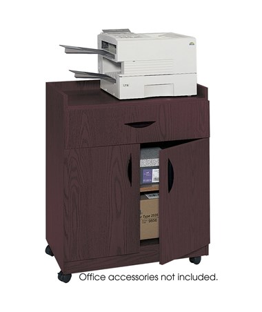 Safco Deluxe Mobile Machine Stand, Mahogany SAF1852MH