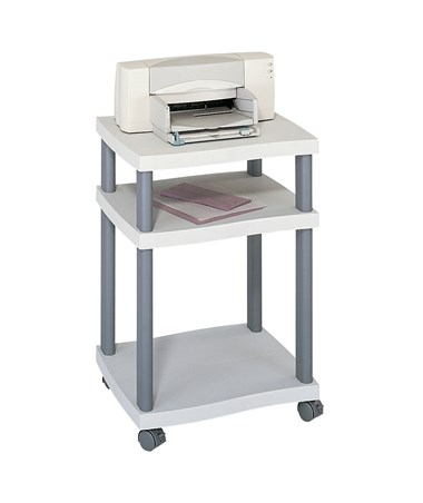 SAFCO1860GR-Wave Desk Side Printer Stand Gray SAF1860GR