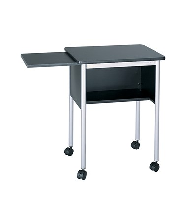 SAFCO1873-Machine Stand with Slide-Away Shelf Black/Silver SAF1873