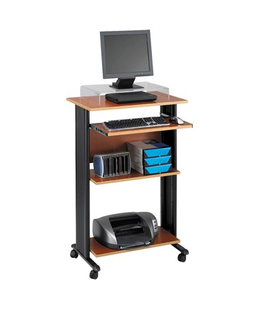 Safco Muv Stand-Up Desk Cherry 1923CY
