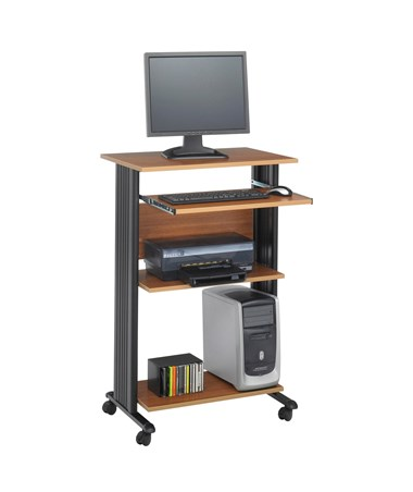Safco Muv Stand-Up Desk Medium Oak 1923MO