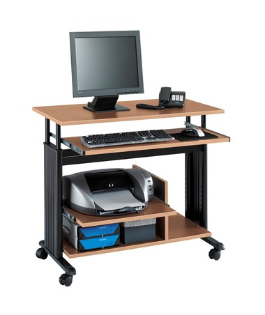 Safco Muv Mini Tower Desk Medium Oak 1927MO