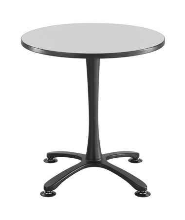 Safco Cha-Cha Sitting-Height X-Base Round Table - Gray Top and Black Base