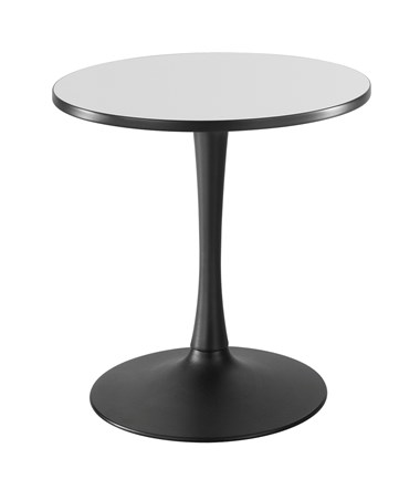 Safco Cha-Cha Sitting-Height Trumpet-Base Round Table - Gray Top and Black Base