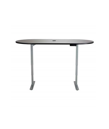 "Safco 72""W x 36""D Electric Height-Adjustable Teaming Table Gray Top/Gray Base 2544GRGR"
