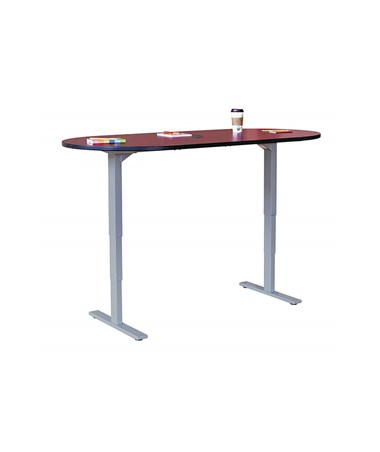 Safco Electric Height-Adjustable Teaming Table SAF2544CYBL-