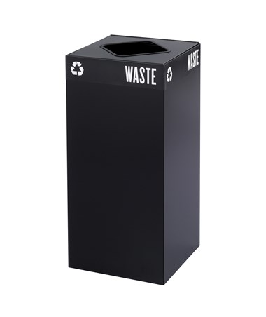 Safco Public Square Waste Receptacle Base 31-Gallon Black