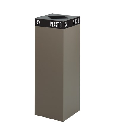 Safco Public Square Waste Receptacle Base 42-Gallon Brown