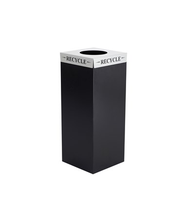"Safco Square-Fecta Waste Receptacle ""Recycle"" Lid"