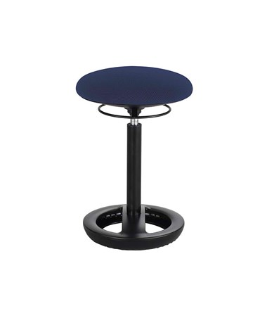 Safco Twixt Active Seating Chair, Desk-Height, Blue 3000BU