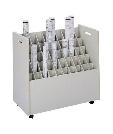 Safco Mobile Roll File, 50 Compartments SAF3083