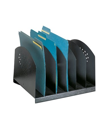 Safco Steel Desk Rack with 6 Upright Sections