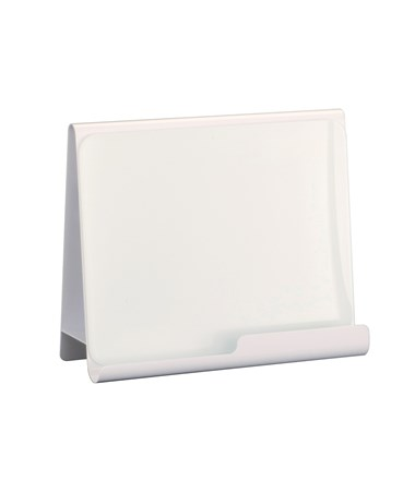 Safco Wave Desktop Whiteboard and Magnetic Document Stand White