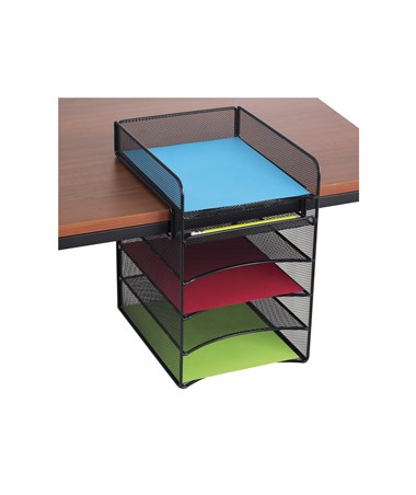 Safco Onyx Hanging Storage Standard Top with 4 Horizontal Trays